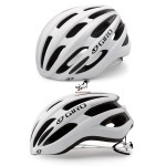 Kask na rolki, rower GIRO FORAY matte white silver, roz. od 55cm do 59cm. Model 2018