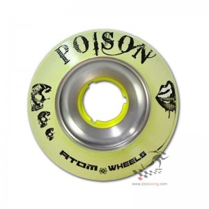 Kółka do wrotek Atom Poison Alloy Slim 62mm x 38mm, 4 sztuki