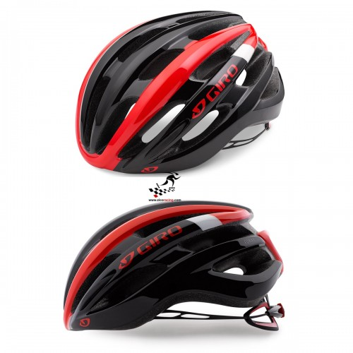 Kask na rolki rower GIRO FORAY bright red black, r. 59cm - 63cm. Model 2018