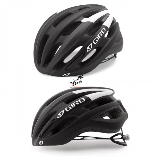 Kask na rolki rower GIRO FORAY matte black white, r. 59cm - 63cm. Model 2018